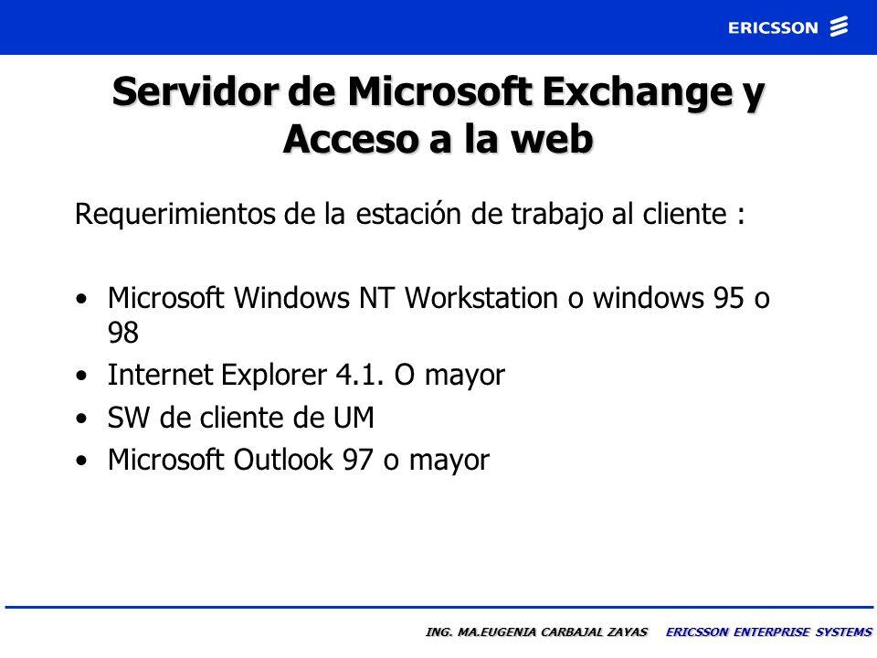 Servidor de Microsoft Exchange y Acceso a la web