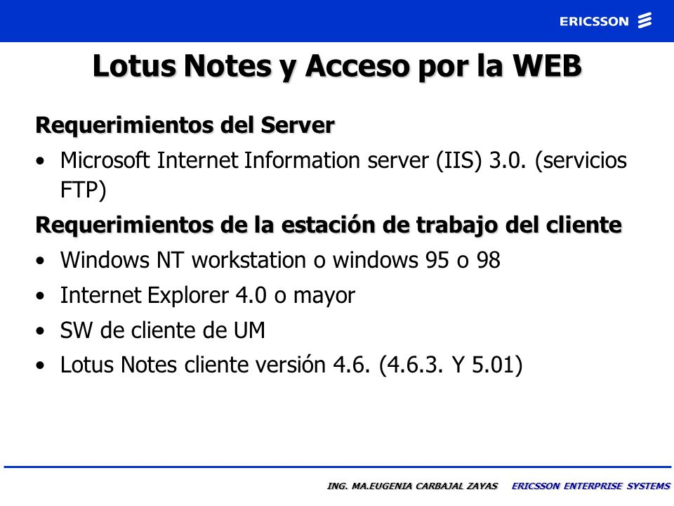 Lotus Notes y Acceso por la WEB