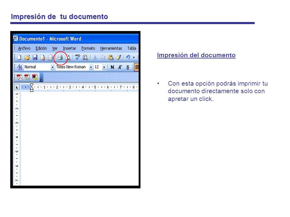 Impresión de tu documento