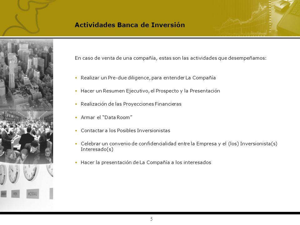 Actividades Banca de Inversión