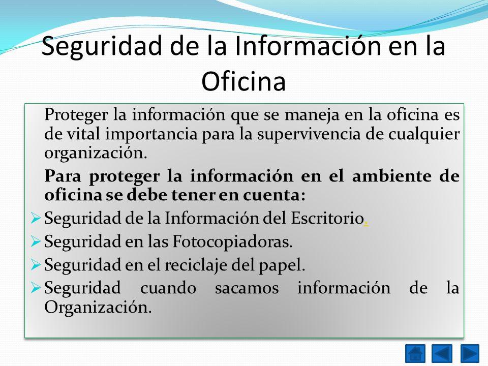 Seguridad de la Información en la Oficina