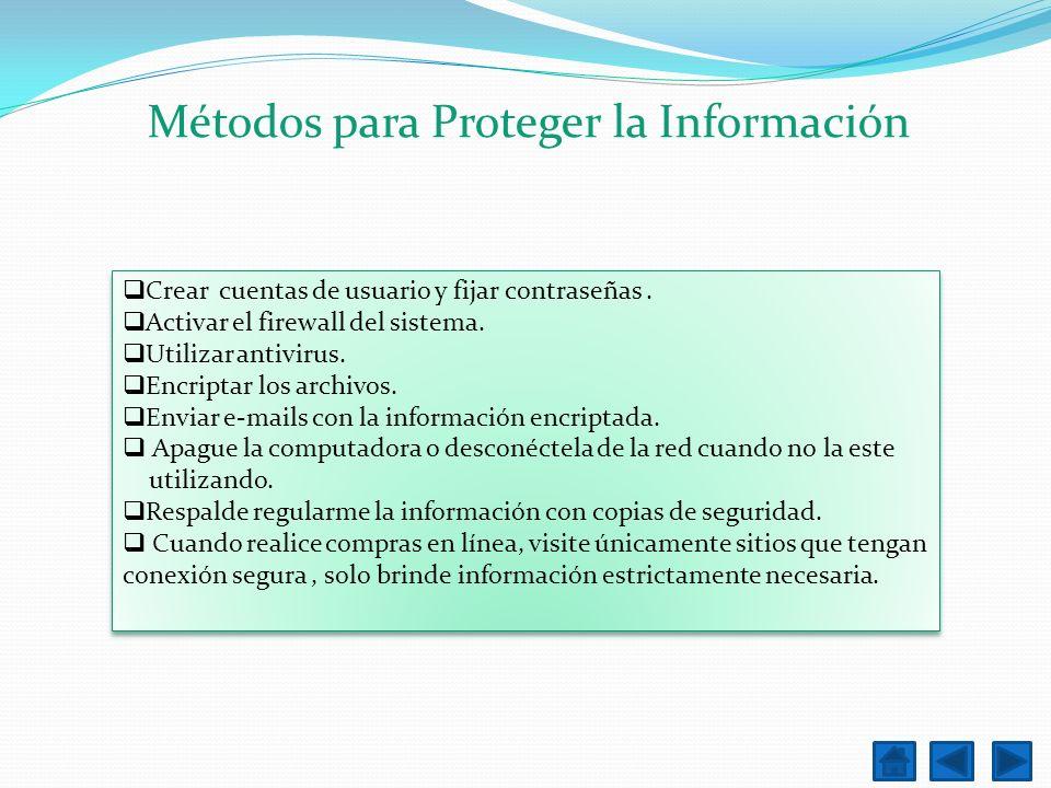 Métodos para Proteger la Información
