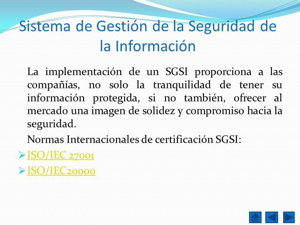 Sistema de Gestión de la Seguridad de la Información