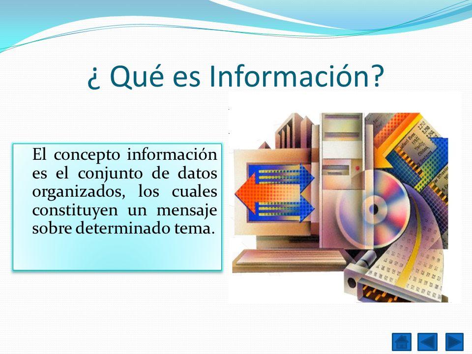 ¿ Qué es Información.