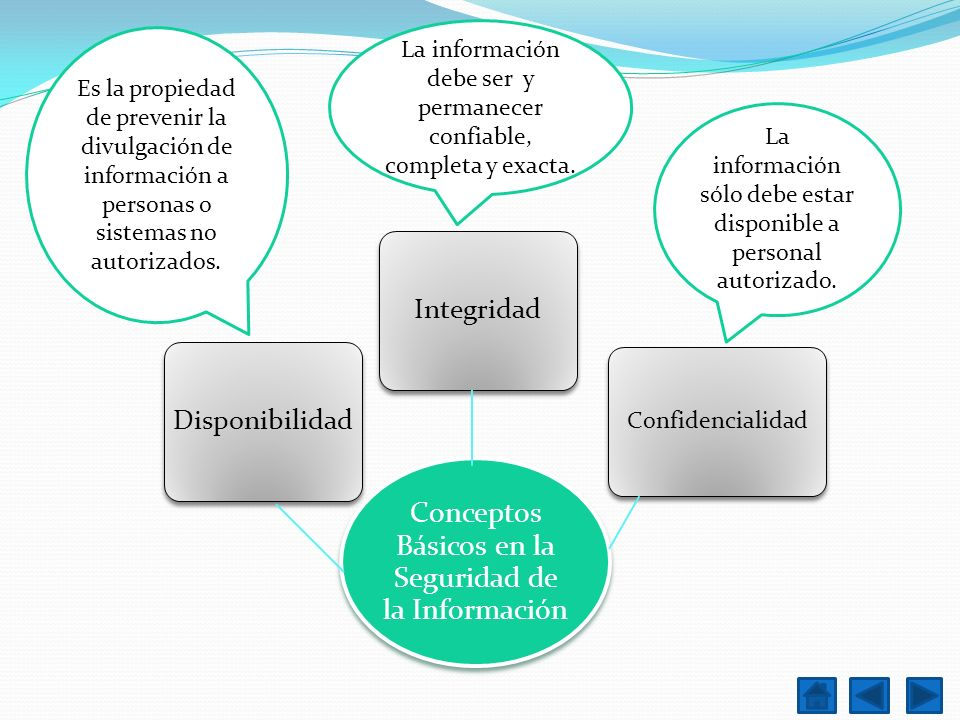 Conceptos Básicos en la Seguridad de la Información