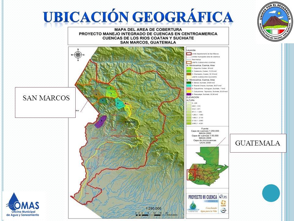 Ubicación geográfica SAN MARCOS GUATEMALA