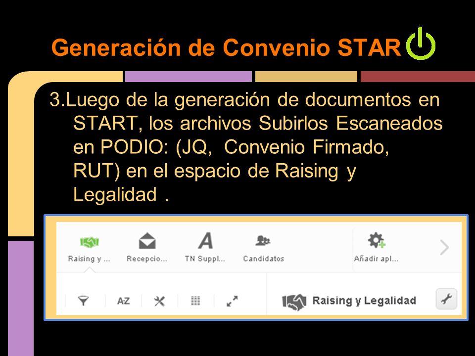 Generación de Convenio START