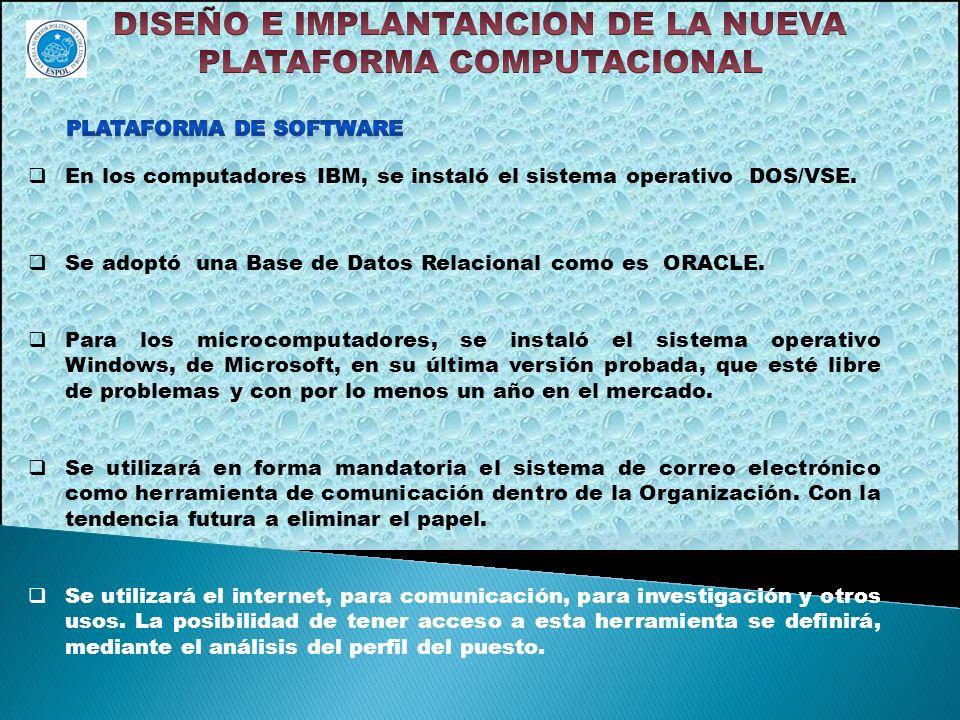 DISEÑO E IMPLANTANCION DE LA NUEVA PLATAFORMA COMPUTACIONAL