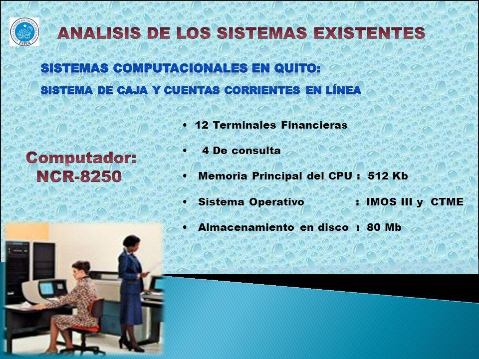 ANALISIS DE LOS SISTEMAS EXISTENTES