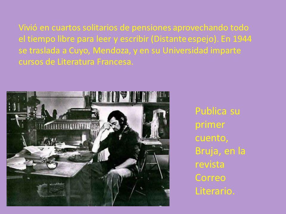 Publica su primer cuento, Bruja, en la revista Correo Literario.