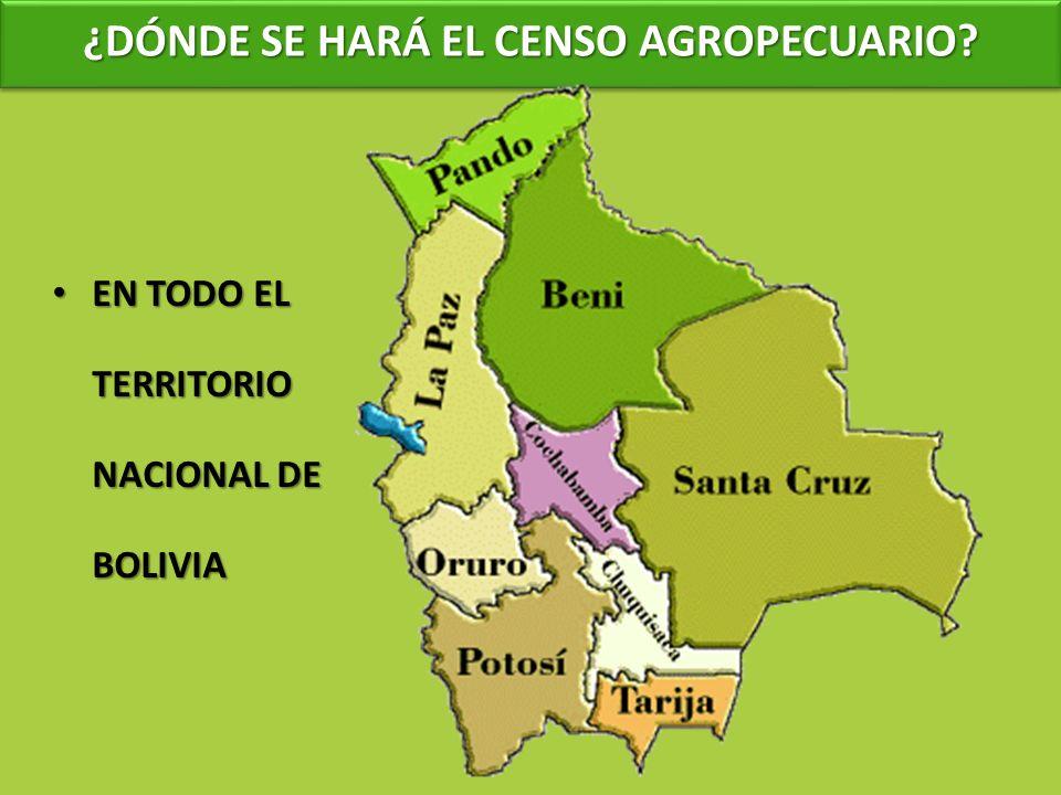 ¿DÓNDE SE HARÁ EL CENSO AGROPECUARIO