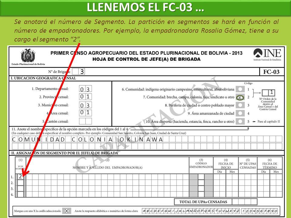 LLENEMOS EL FC-03 …