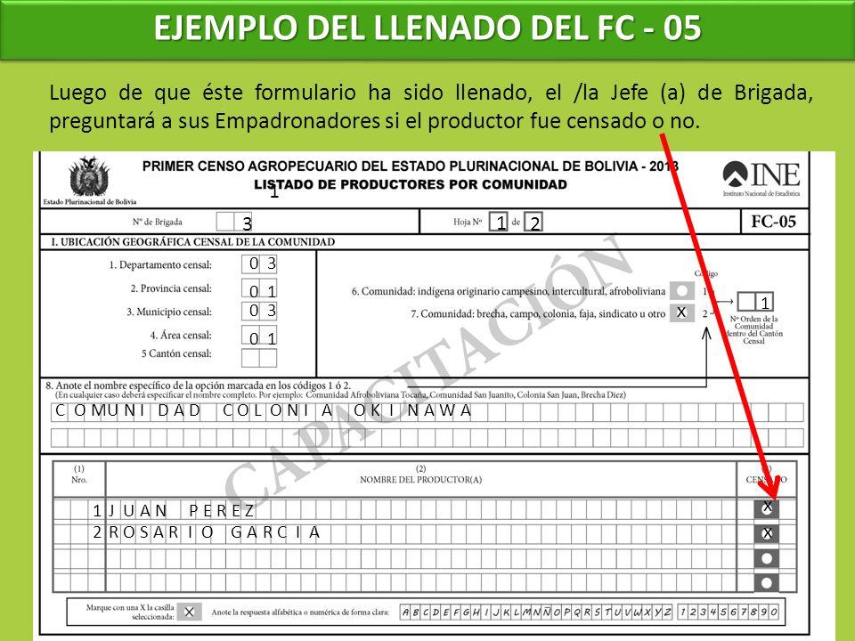 EJEMPLO DEL LLENADO DEL FC - 05