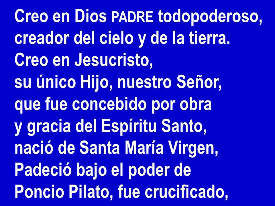 Creo en Dios PADRE todopoderoso,