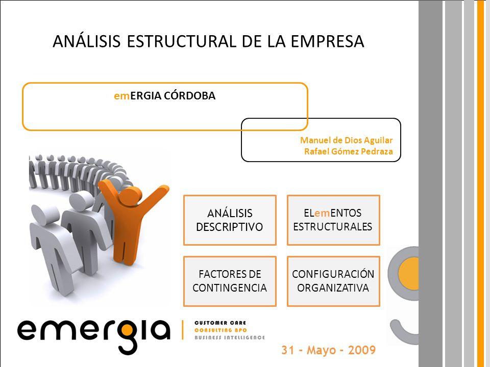 ANÁLISIS ESTRUCTURAL DE LA EMPRESA