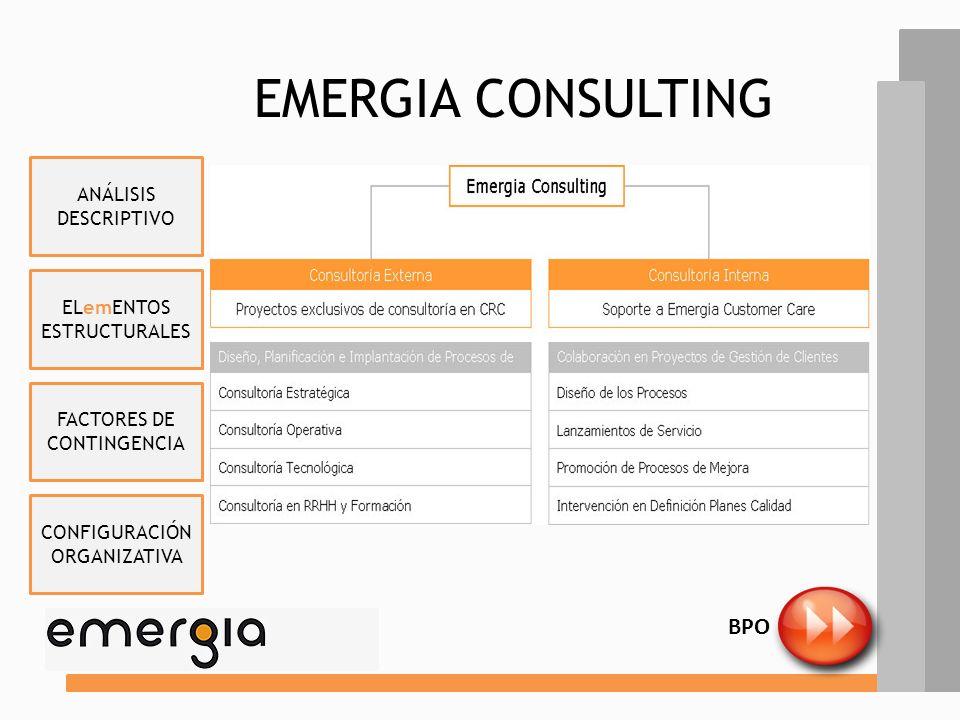 EMERGIA CONSULTING BPO ANÁLISIS DESCRIPTIVO ELemENTOS ESTRUCTURALES