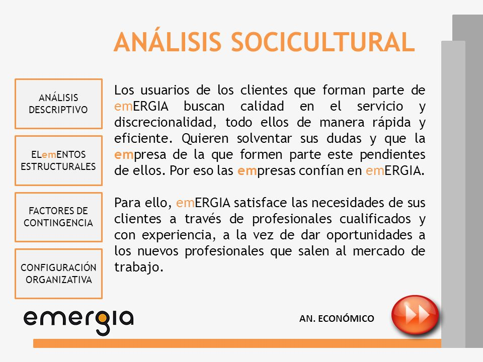ANÁLISIS SOCICULTURAL