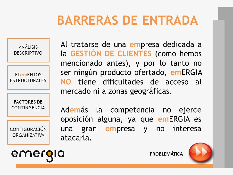 BARRERAS DE ENTRADA ANÁLISIS DESCRIPTIVO.