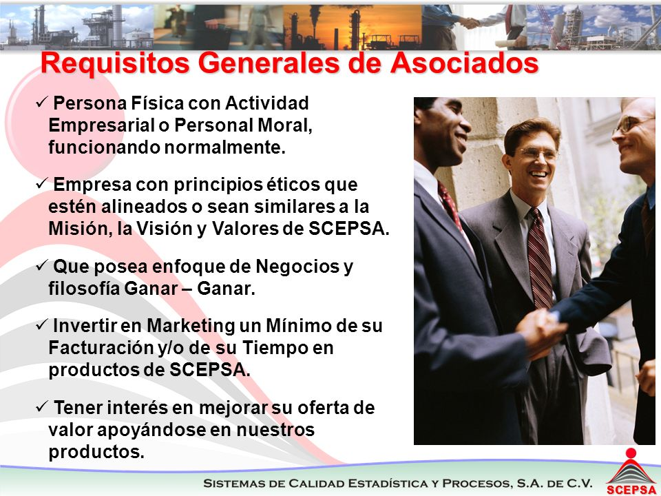 Requisitos Generales de Asociados