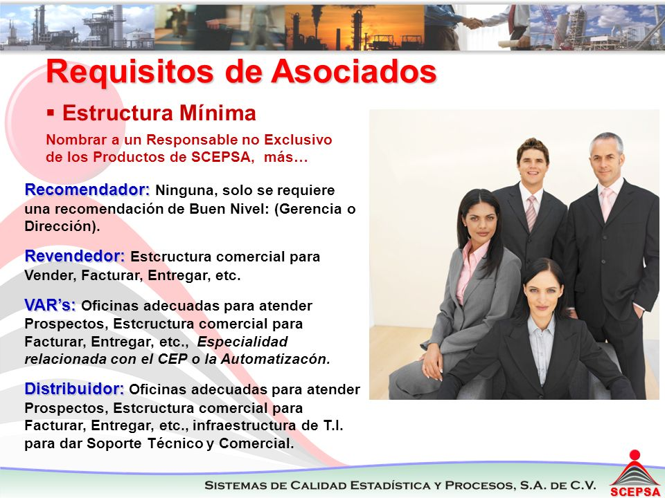 Requisitos de Asociados