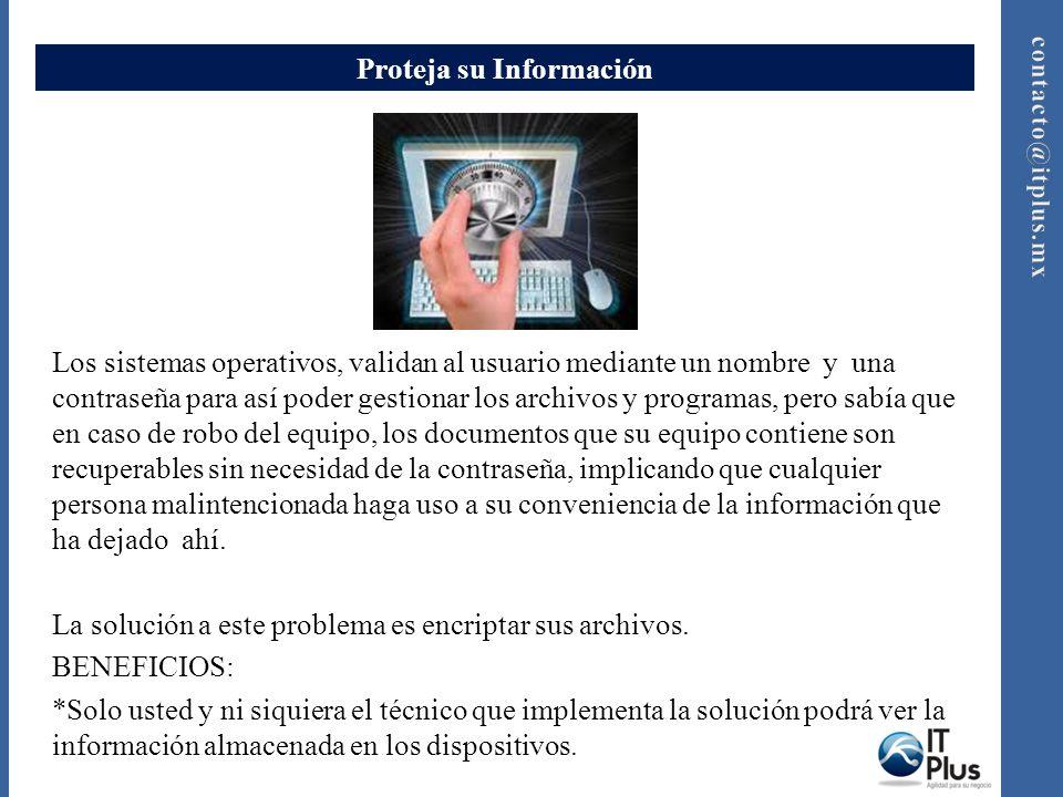 Proteja su Información