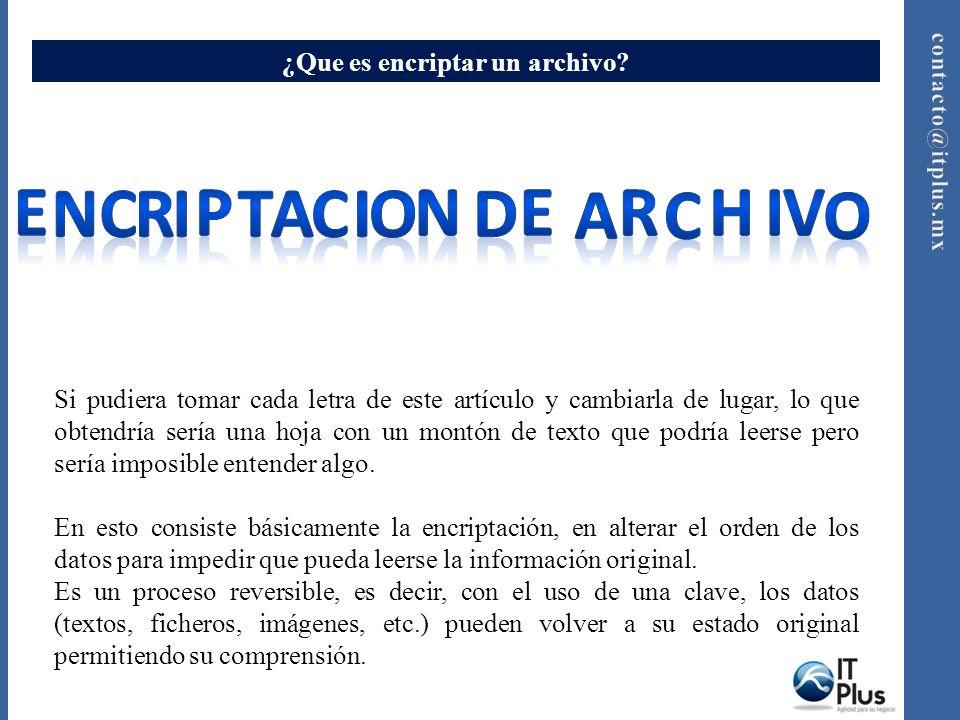 Encriptacion de archivos