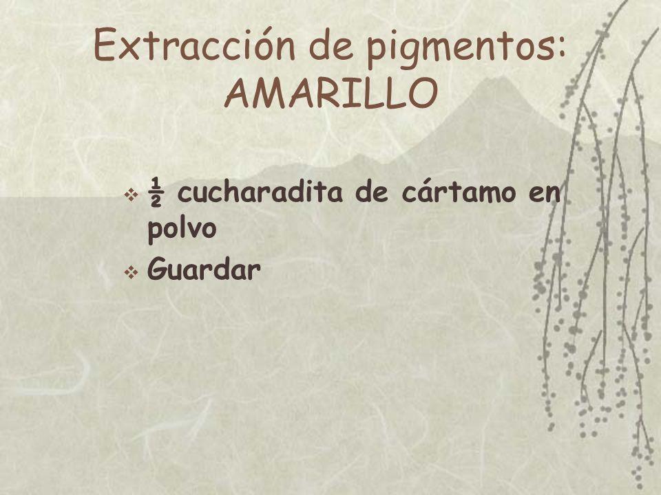 Extracción de pigmentos: AMARILLO