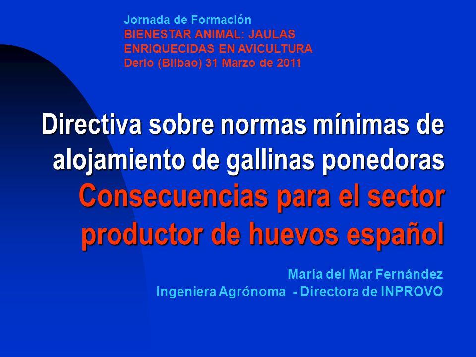 Jornada de Formación BIENESTAR ANIMAL: JAULAS ENRIQUECIDAS EN AVICULTURA. Derio (Bilbao) 31 Marzo de 2011.