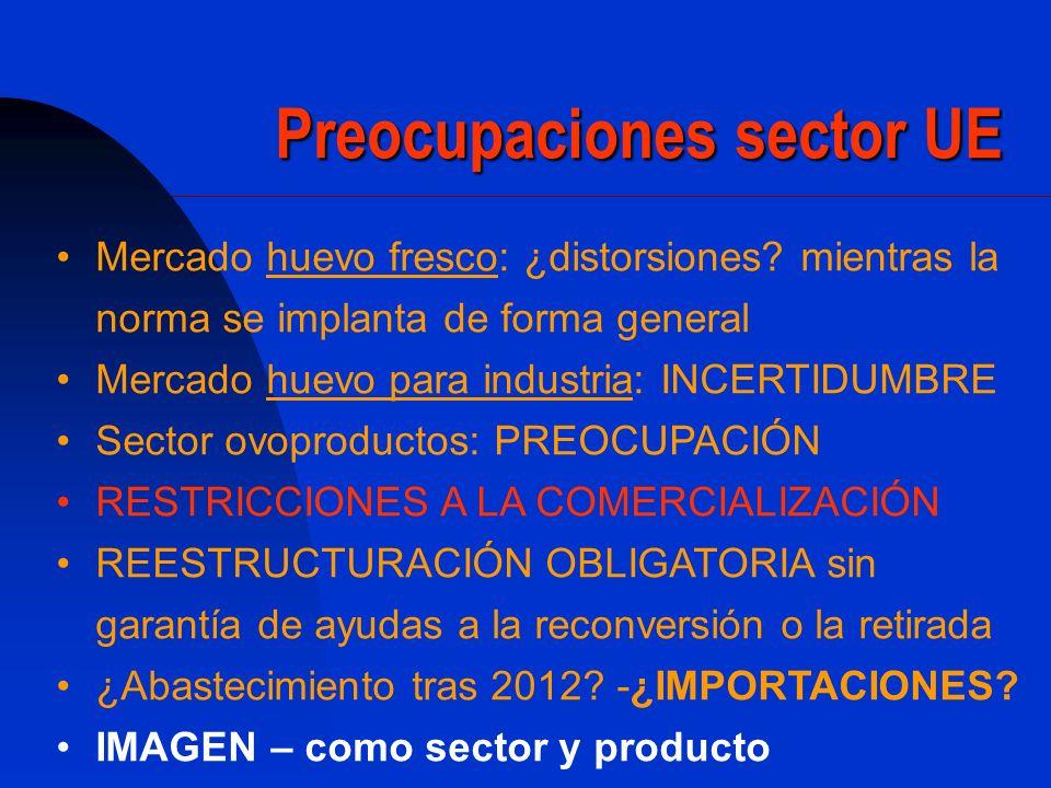 Preocupaciones sector UE