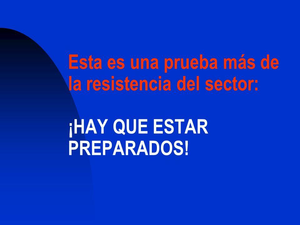 Esta es una prueba más de la resistencia del sector: ¡HAY QUE ESTAR PREPARADOS!