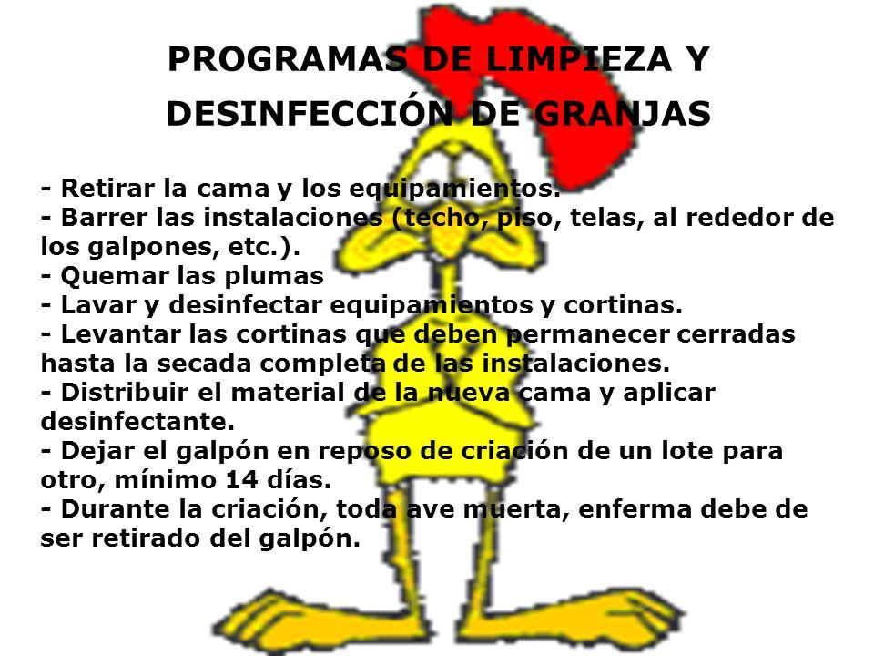 PROGRAMAS DE LIMPIEZA Y DESINFECCIÓN DE GRANJAS