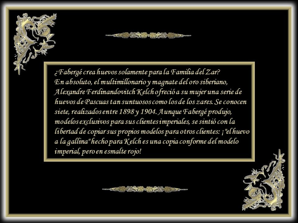 ¿Fabergé crea huevos solamente para la Familia del Zar