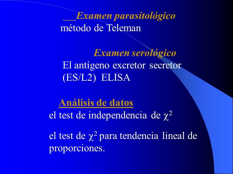 Examen parasitológico