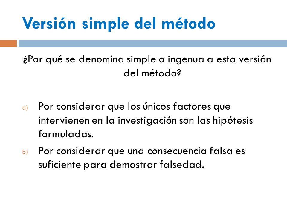 Versión simple del método