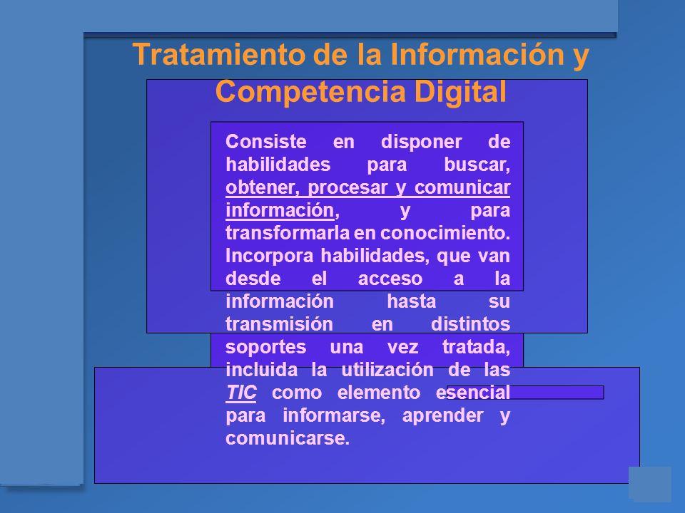 Tratamiento de la Información y
