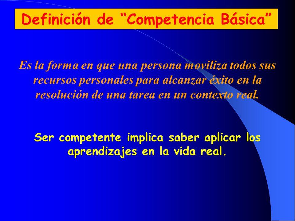 Definición de Competencia Básica