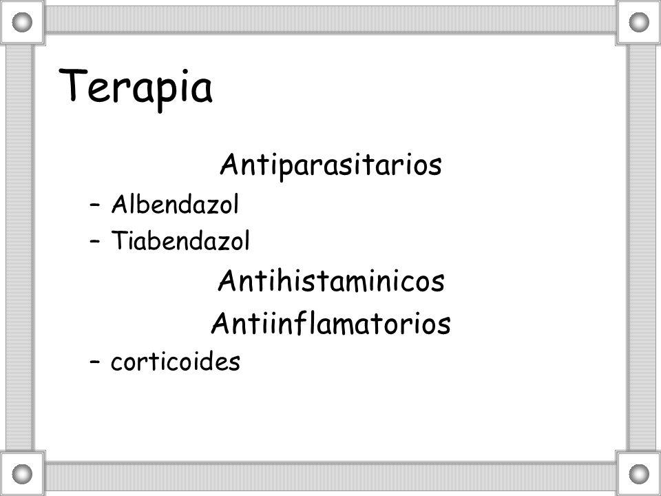 Terapia Antiparasitarios Antihistaminicos Antiinflamatorios Albendazol
