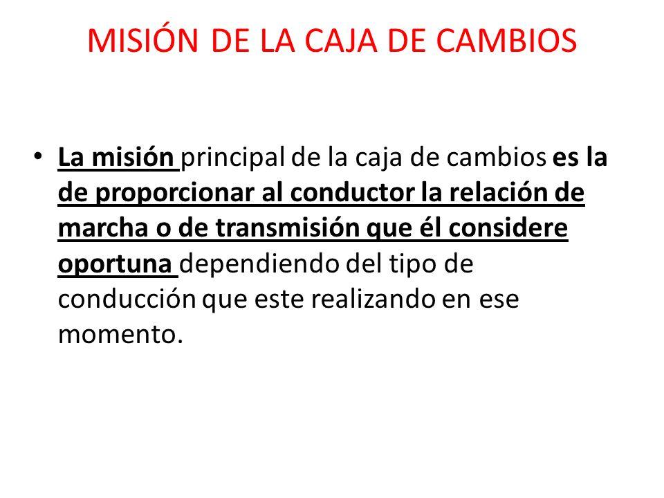 MISIÓN DE LA CAJA DE CAMBIOS