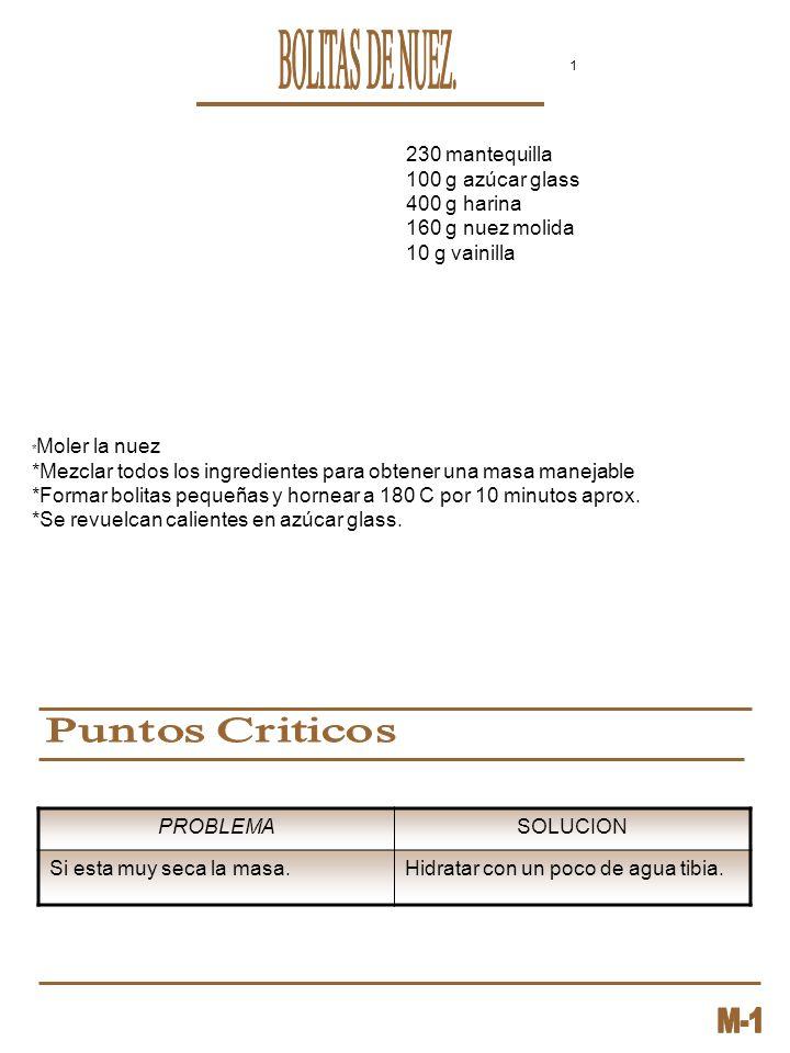 BOLITAS DE NUEZ. 230 mantequilla 100 g azúcar glass 400 g harina