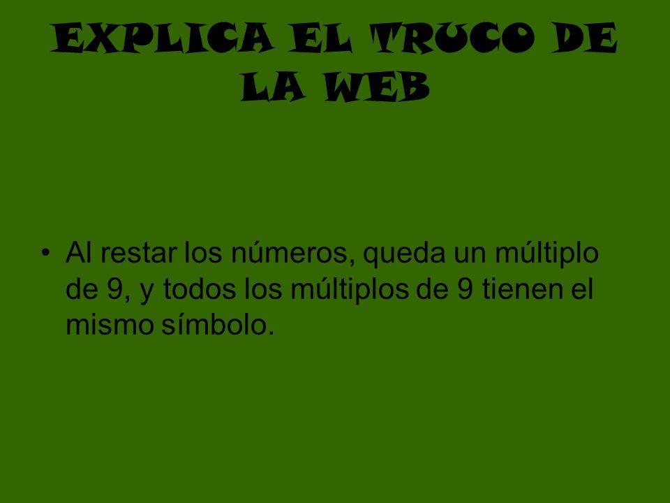 EXPLICA EL TRUCO DE LA WEB