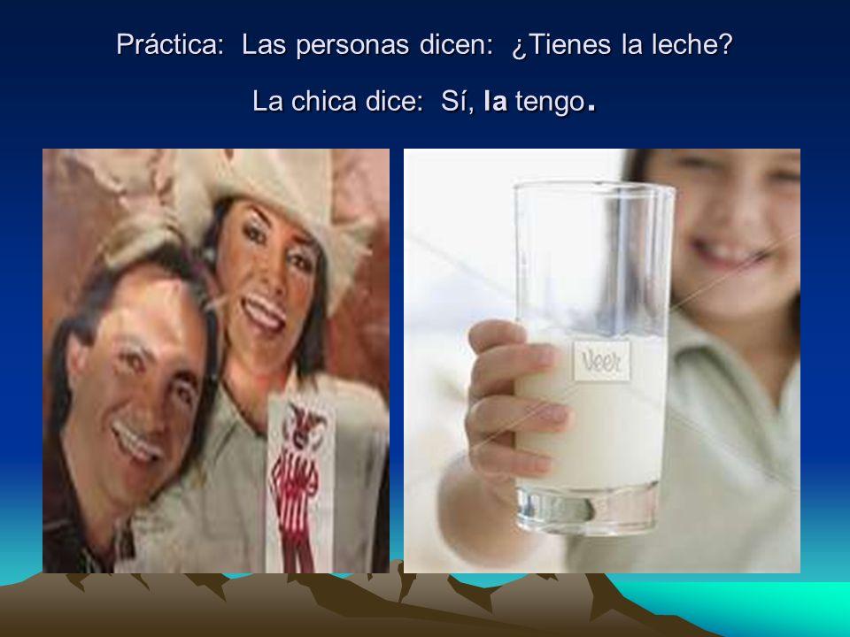 Práctica: Las personas dicen: ¿Tienes la leche