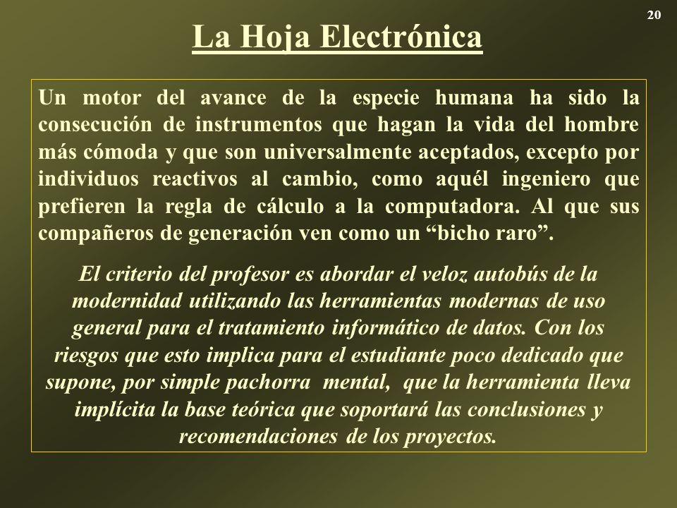 20 La Hoja Electrónica.