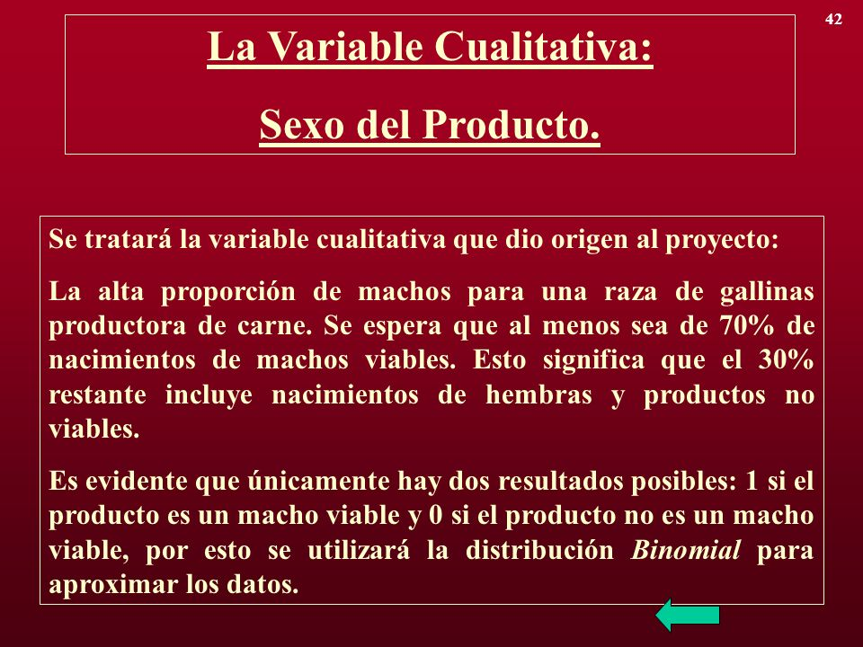 La Variable Cualitativa: