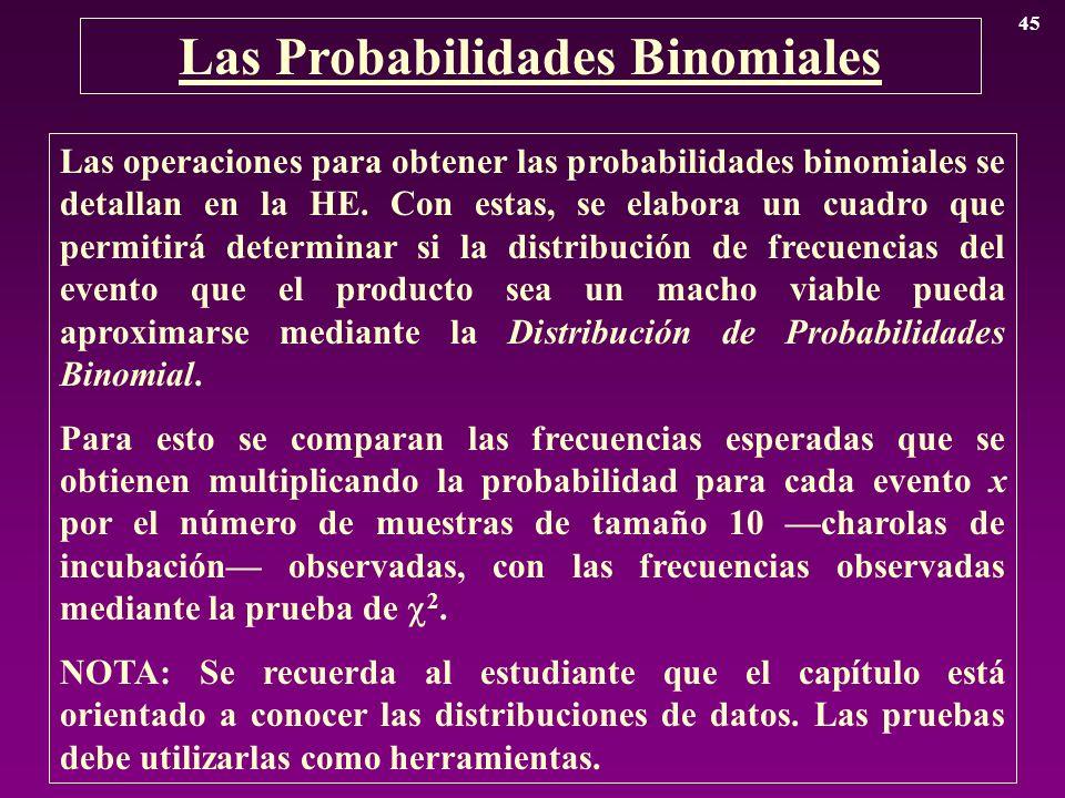 Las Probabilidades Binomiales