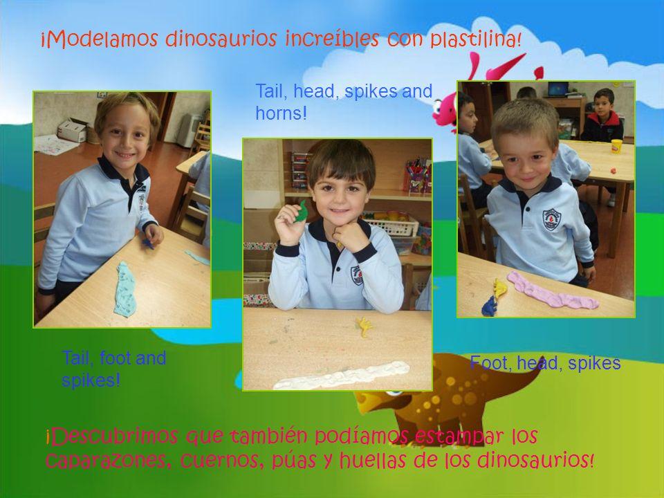 ¡Modelamos dinosaurios increíbles con plastilina!