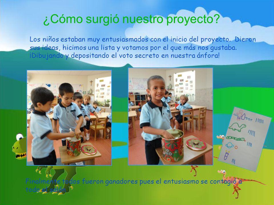 Los niños estaban muy entusiasmados con el inicio del proyecto