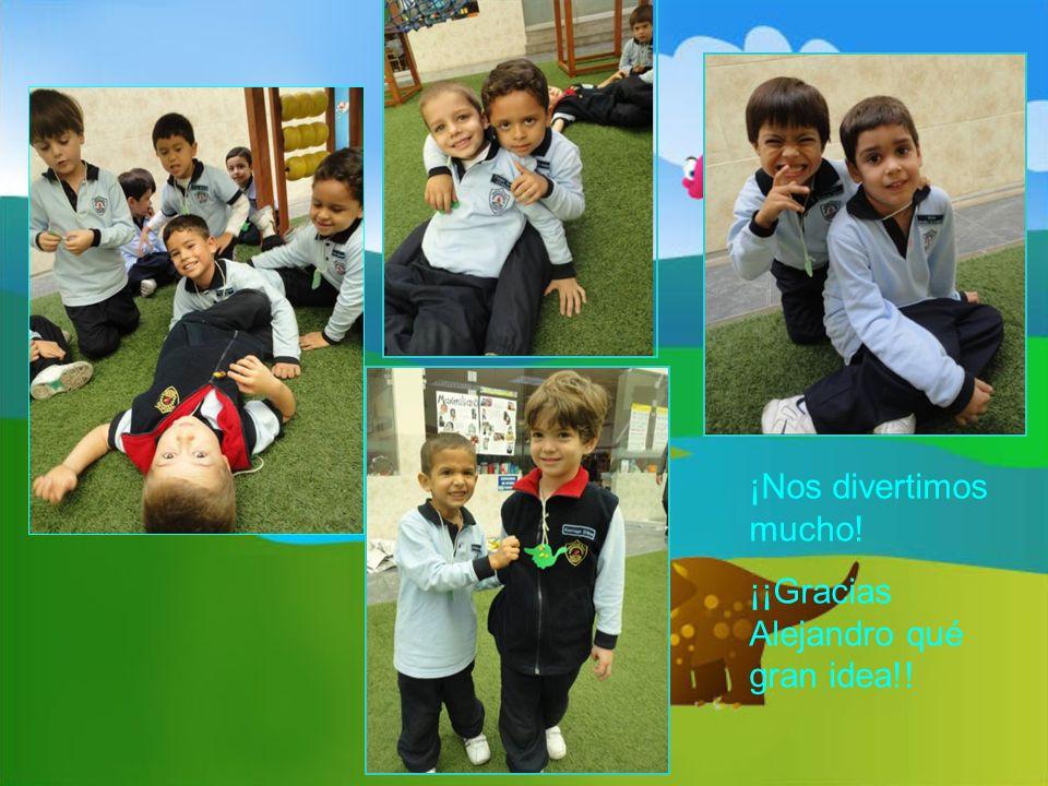 ¡Nos divertimos mucho! ¡¡Gracias Alejandro qué gran idea!!