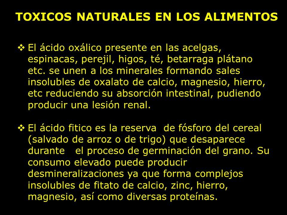TOXICOS NATURALES EN LOS ALIMENTOS