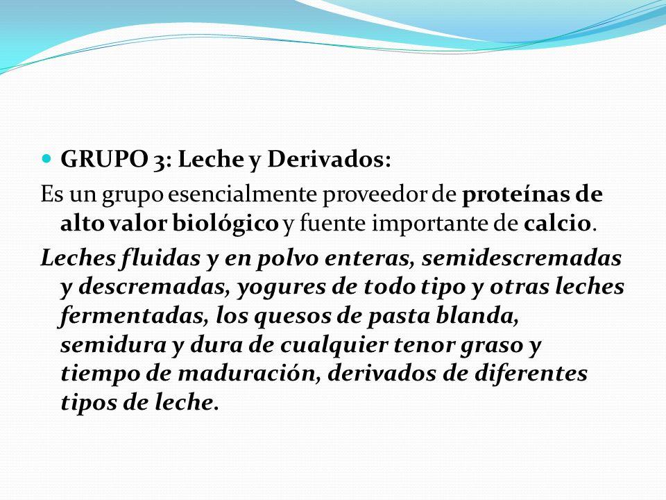 GRUPO 3: Leche y Derivados: