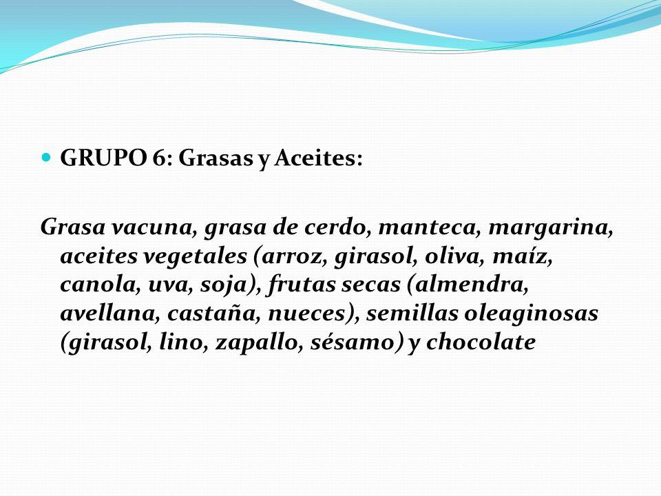 GRUPO 6: Grasas y Aceites: